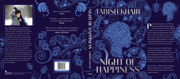 night of happiness novel by tabish khair book cover